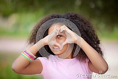 Heart shape kid