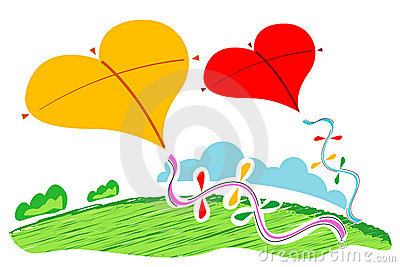 Heart shape  kites