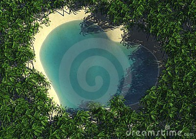 Heart shape lagoon