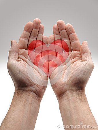 Heart Shape in male hands