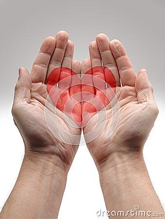 Heart Shape in male hands