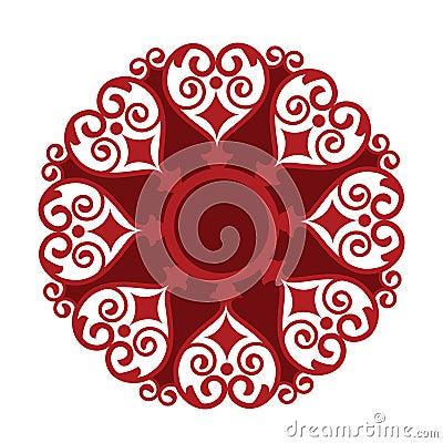 Heart shape medallion