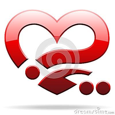 Heart shape object