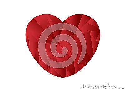 Heart shape origami