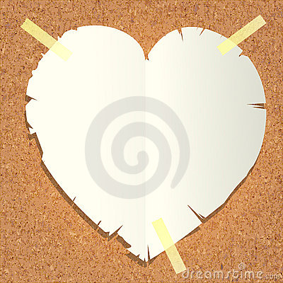 Heart shape paper cut