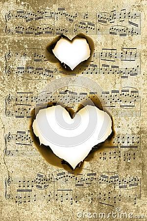 Heart shape parchment