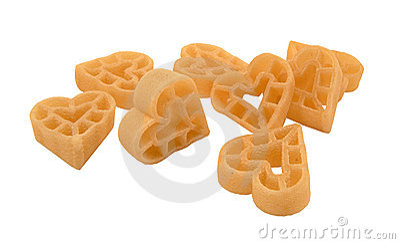 Heart shape pasta