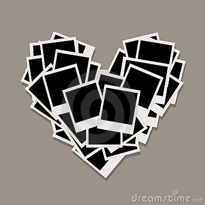 Heart shape, photo frames, insert your photos
