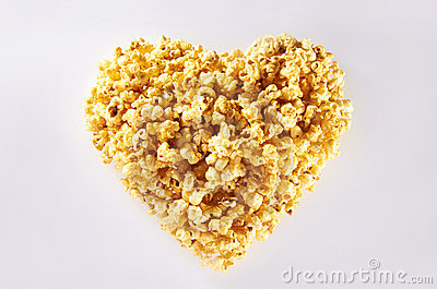 Heart Shape Popcorn Royalty Free Stock Photography - Image: 21882317