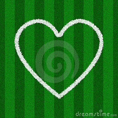 Heart Shape on a Soccer Field