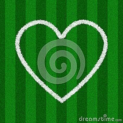 Heart Shape on a Soccer Field