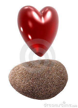 Heart shape and stone