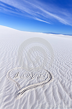 Heart Shape on White Sands