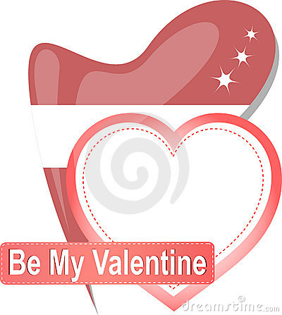 Free Heart Shape With Text Be My Valentine. Vector Royalty Free Stock Images - 22729049