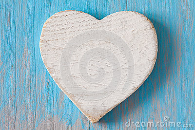Heart shape on wooden board