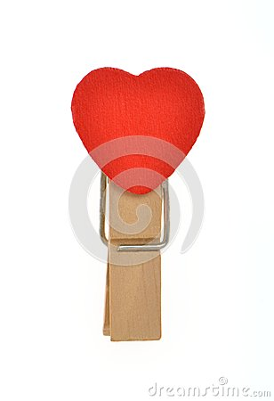 Free Heart Shape Wooden Clip Stock Images - 28206124