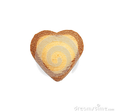 Heart shape xmas spice cake