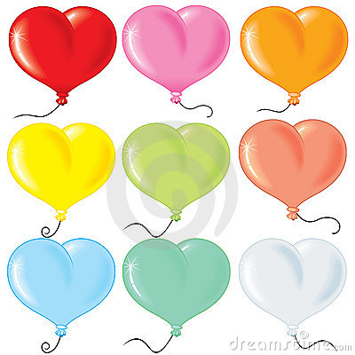 Free Heart Shaped Balloonrs Stock Photography - 16684182