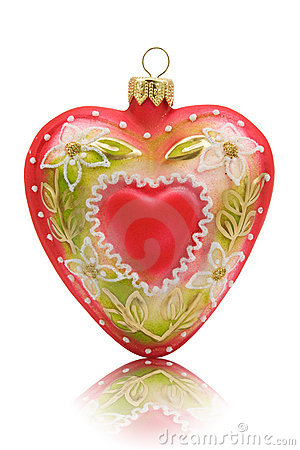 Heart shaped bauble
