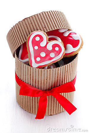 Free Heart-shaped Biscuits Stock Photography - 17536302