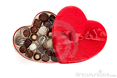 Heart Shaped Box With Candy Royalty Free Stock Photography