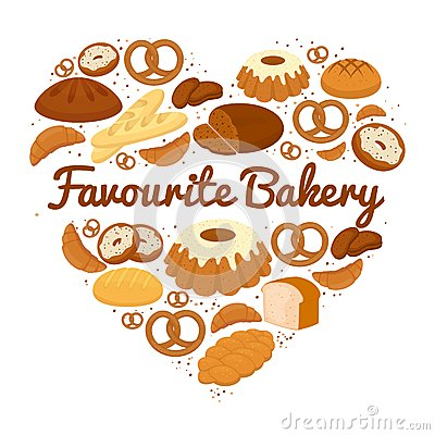 Free Heart Shaped Cakes  Sweets And Bread Badge Stock Image - 42703281