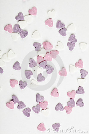 Heart shaped candy sweets