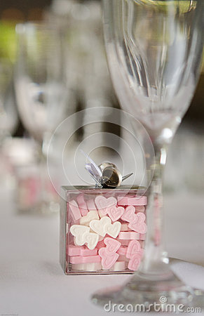Heart shaped candy wedding banquet