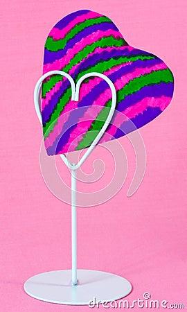 heart shape holder