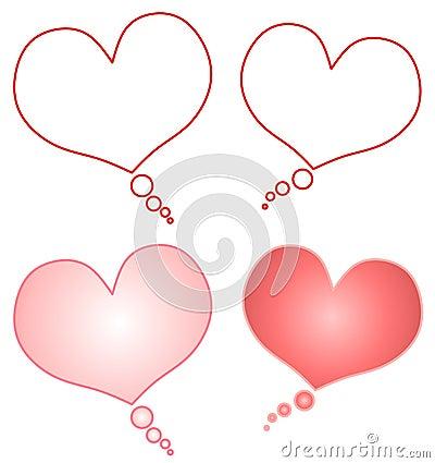 Free Heart Shaped Cartoon Talk Bubbles Stock Images - 3909854