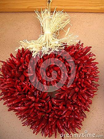 Heart Shaped Chili Ristra