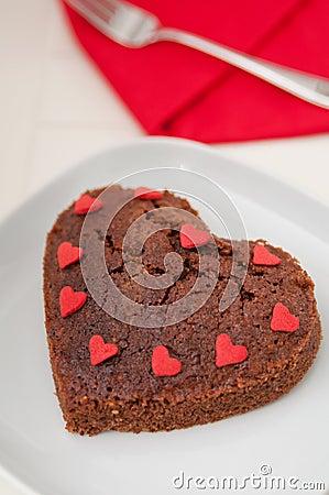 Free Heart Shaped Chocolate Brownie Stock Photo - 37853240