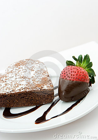 Free Heart Shaped Chocolate Cake Royalty Free Stock Photos - 5421838