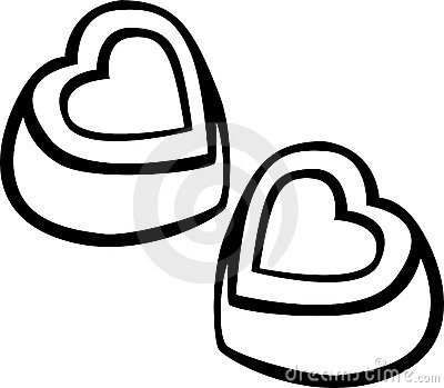 heart shaped chocolates vector illustration