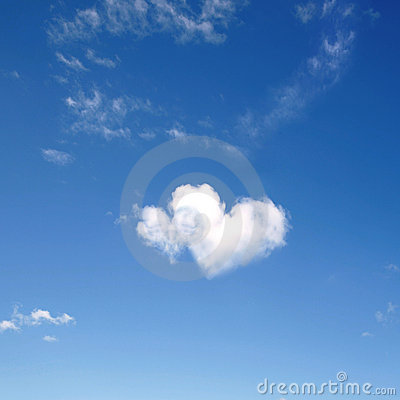 Free Heart Shaped Clouds Stock Photography - 3381252