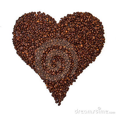 Free Heart Shaped Coffee Beans Stock Image - 18538311