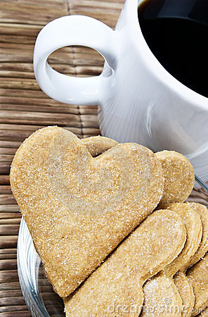 Free Heart Shaped Cookies And Coffee Royalty Free Stock Photo - 15921825