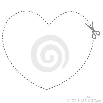 Heart shaped coupon border