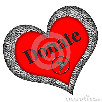 Donate Button Heart Shaped