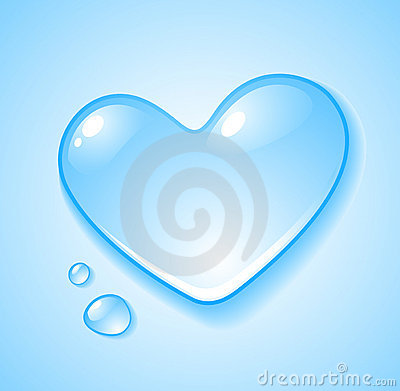Heart shaped droplet