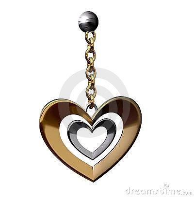 heart shaped earing