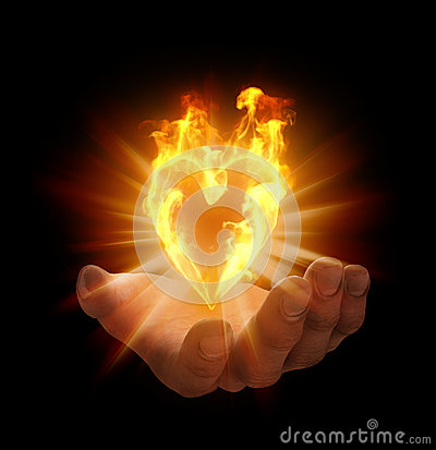Heart shaped flame