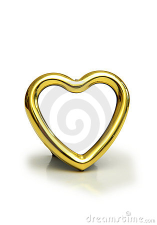 Heart shaped frame isolated