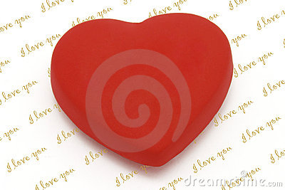 Heart shaped fridge magnet with copy space