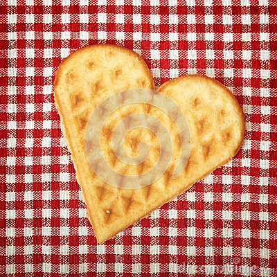 Heart shaped galette cookie