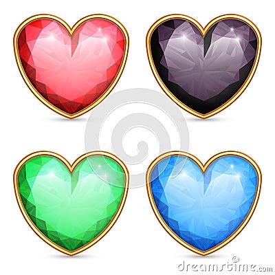 Free Heart Shaped Gems. Stock Photos - 36496393
