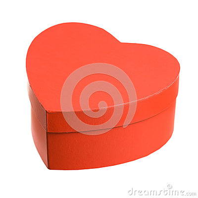 Heart shaped gift box.