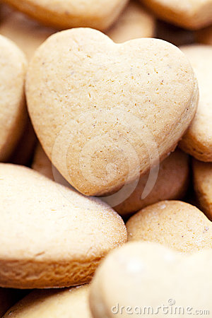 Free Heart-shaped Home Made Cookies Stock Photography - 24324532