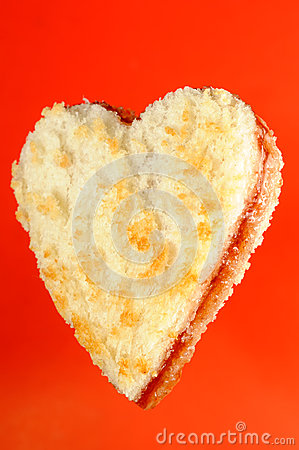 Heart Shaped Jam Sandwich