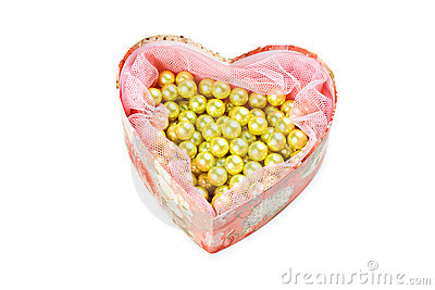 Heart shaped jewel box
